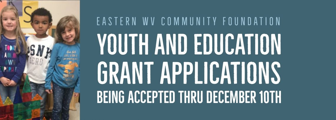Youth & Education Grant Applications Being Accepted thru December 10